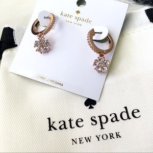 ♠️ Kate Spade Flower Drop Rose Huggies Earrings